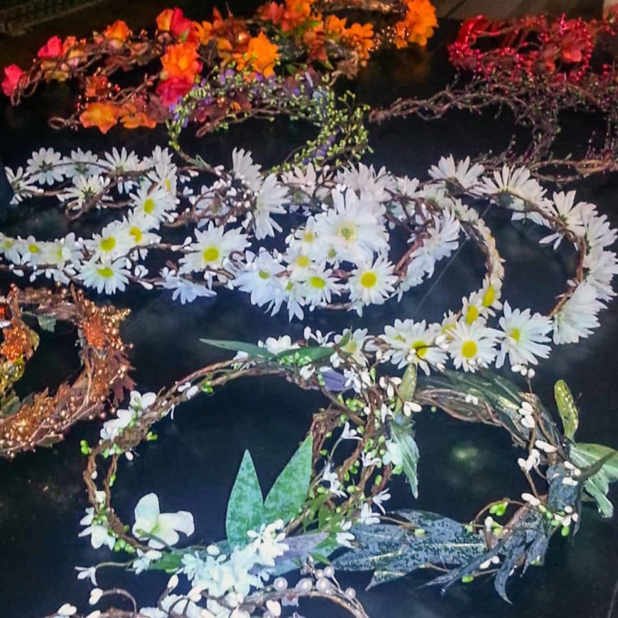 Array of handmade flower crowns